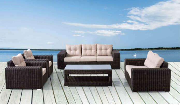 Outdoor Leisure Round Rattan Sofa