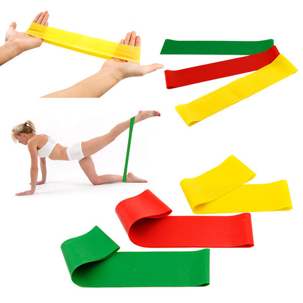"Exercise Band 12"" X 2"" X 0.5mm Suited as Part of Home Workout, at The Gym, in Pilates or Yoga Class Medium Resistance Band"