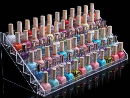 Acrylic Countertop Cosmetic Makeup Tower Showcase