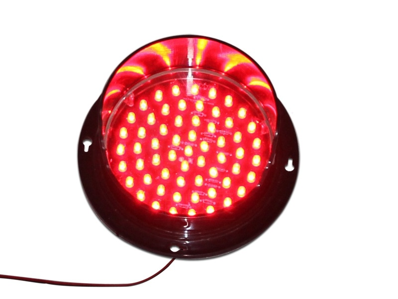Customized Red LED Lampwick 125mm Traffic Signal Light