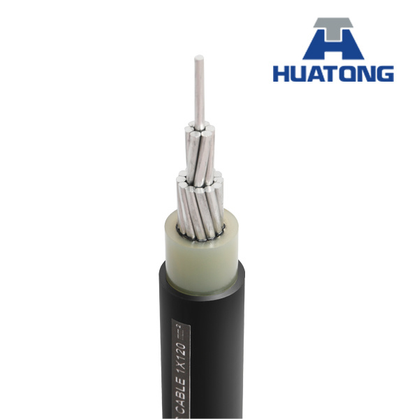 12kv-35kv Aluminum Conductor XLPE / HDPE Single Core Sac Cable