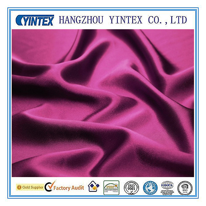 Solid Color Silk Satin Fabric for Clothing