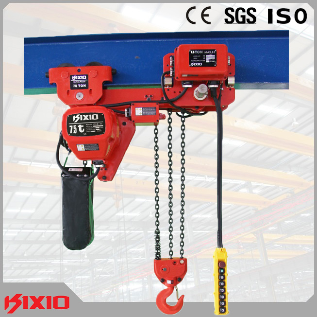 7.5 Electric Motor Trolley Type Hoist with Fec80 Chain