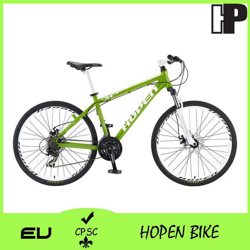 "New Fashion Aluminum Mountain Bike, 26"" 21sp, Green"