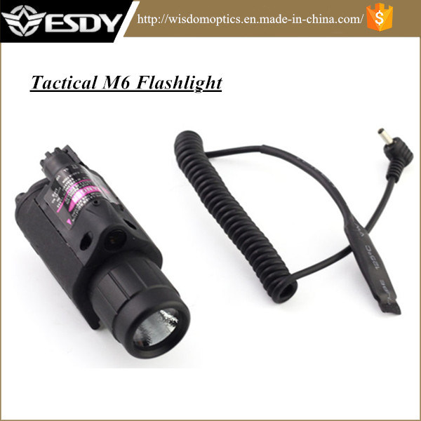 Red Laser Sight Flashlight Combo M6 Tactical Flashlight for Hunting