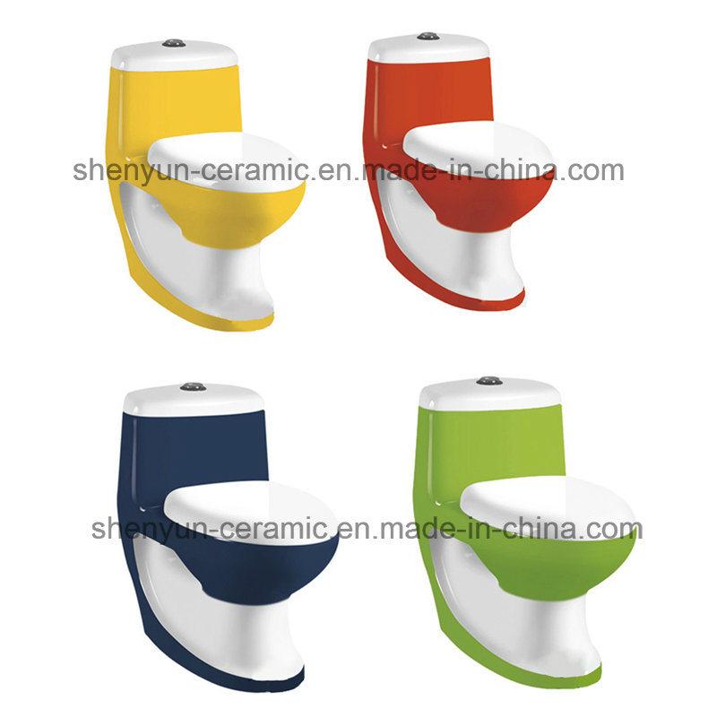 Ceramic One-Piece Toilet Color Toilet Washdown (A-028)