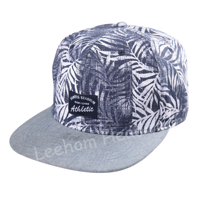 Chambray Oxford Snapback Woven Applicate New Fashion Era Sport Cap
