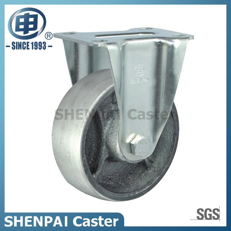 "5"" Cast Iron Rigid Zinc Plated Caster Wheel"