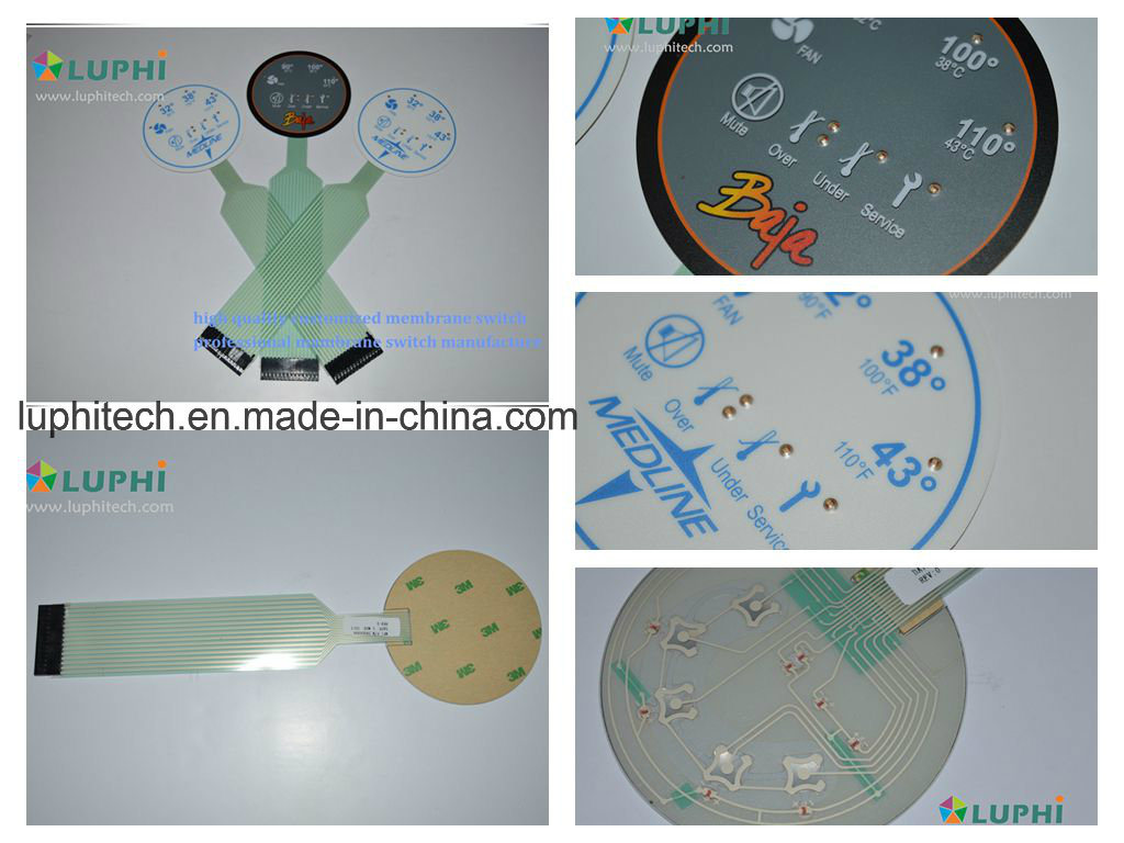 Backlights Metal Domes Flat Membrane Switch for Medical Equipment (MIC-0100)