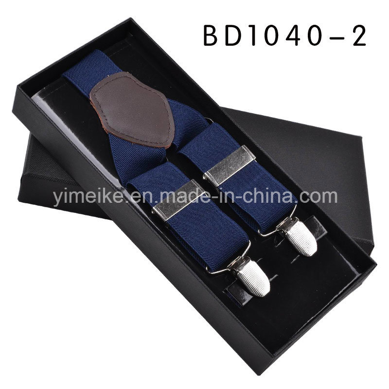 High Quality Genuine Leather Elastic Braces Gift for Men