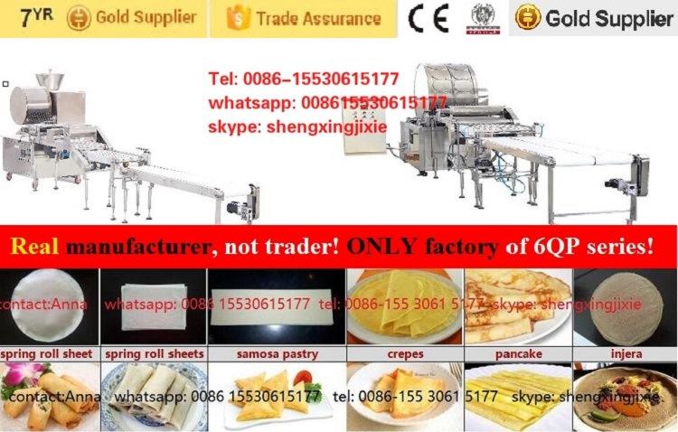 Automatic Arabic Samosa Pastry Machine/Algeria Spring Roll Pastry Machine/Injera Machine/Crepe Machine