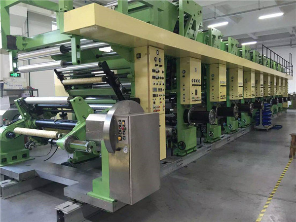 Second-Hand Fast 9 Colors Gravure Printing PVC Film Machine