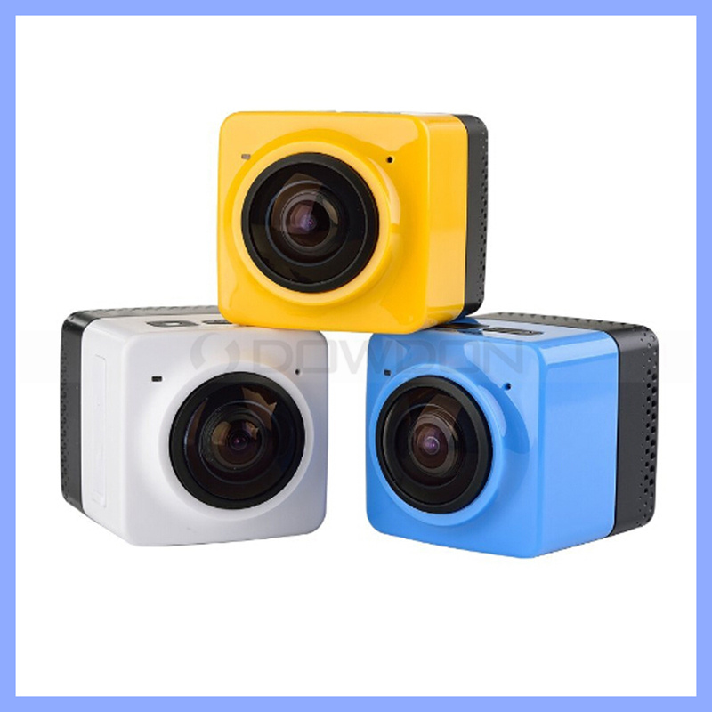 Cube 360 Mini Sports Action Camera 720p 360-Degree Large Panoramic Shot Sports Camera with WiFi Support up to 32GB Memory Card