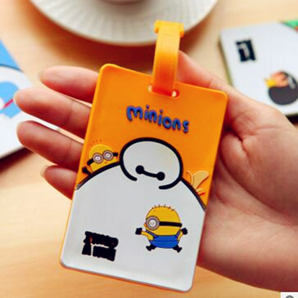 Fashion Waterproof Soft Silicone Personalized Luggage Tag