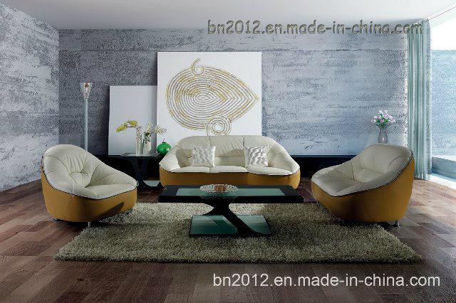 Living Room Genuine Leather Sofa (SBL-9007)