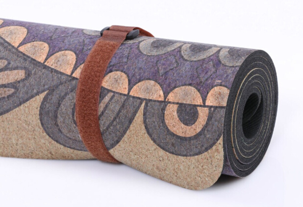 Folding Cork Yoga Mat SGS Passed Mat with Durable&Soft Cork
