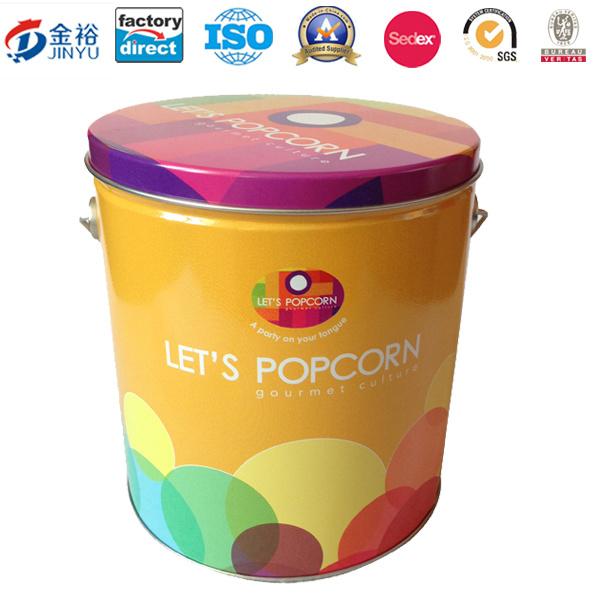 Metal Popcorn Package Bucket Tin