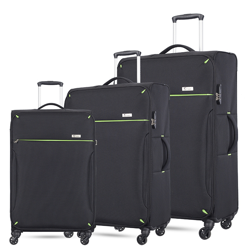 Lightweight 4 Wheels Trolley Travel 3 Piece Luggage Sets with 20 24 28 Inches Suitcase
