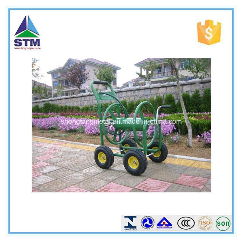 Durable Garden Rolling Hose Reel Cart/ Hose Reel Car in Garden