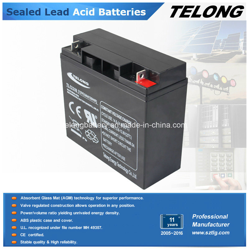 Deep Cycle Electric Car Battery UPS Battery (12V20AH)