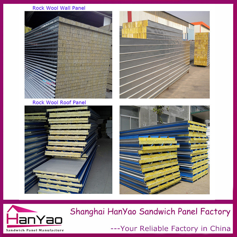 High Quality Color Steel Rock Wool Sandwich Panel