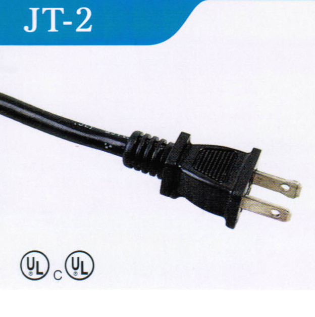 American 2 Pins Acpower Cord with UL Certified (JT-2)