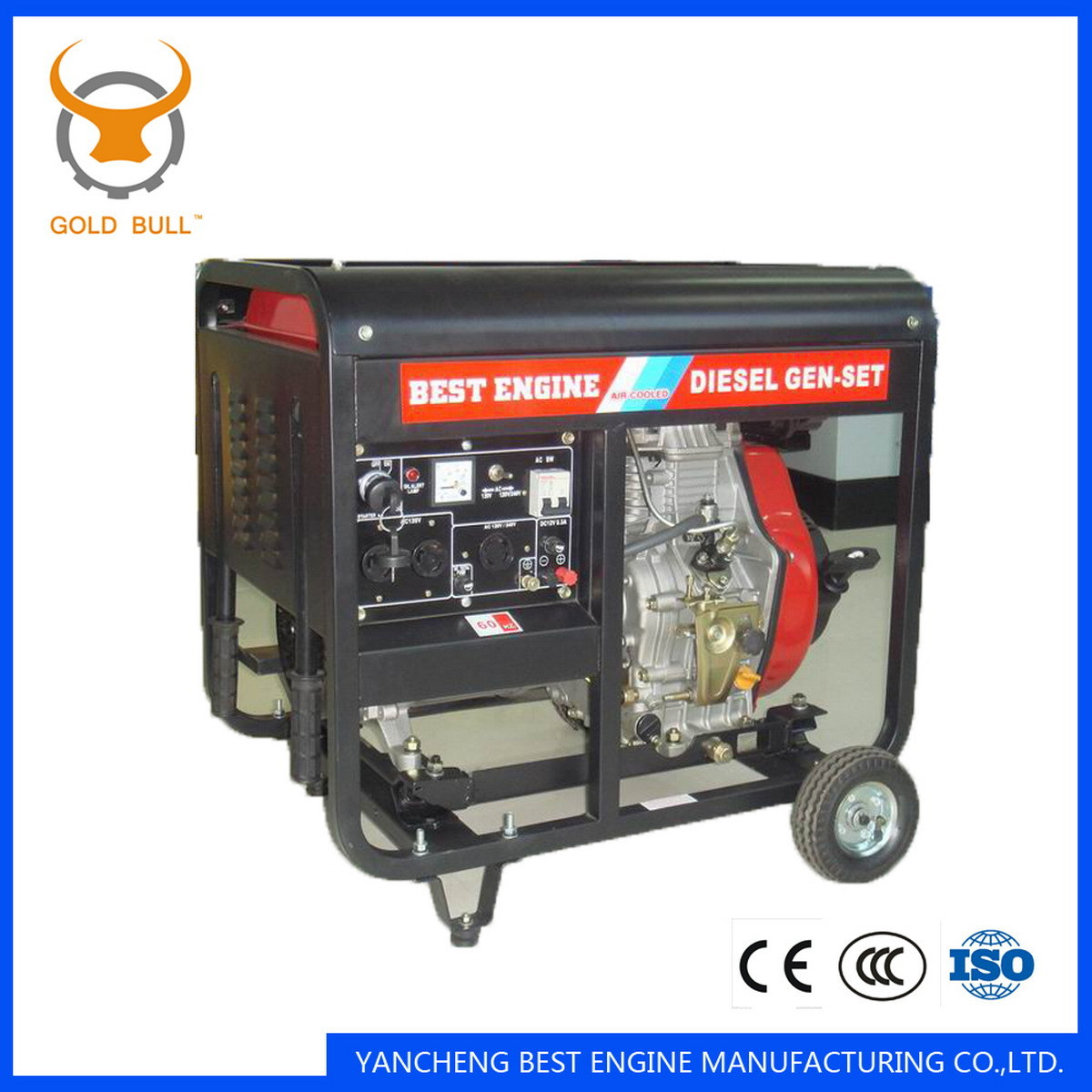 GB2500dg Air-Cooled Power Diesel Generator for Industrial or Home Use