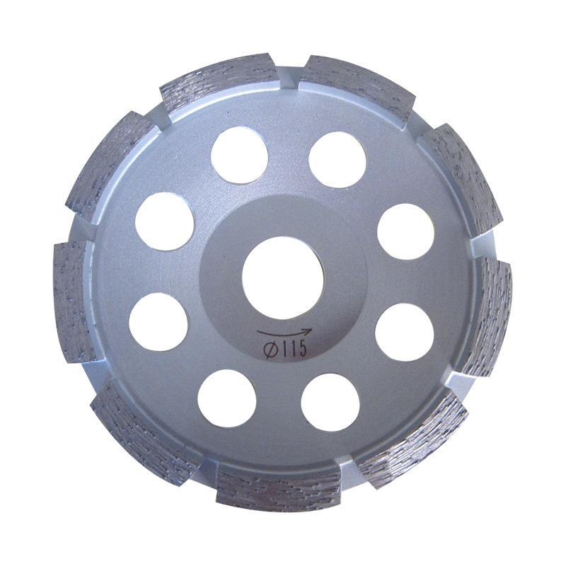 115mm Single Row Diamond Polising Abrasive Grinding Cup Wheel