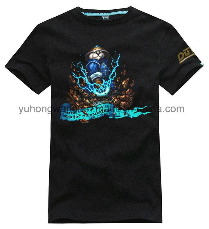 High Quality Cotton Men′s Printed T-Shirt