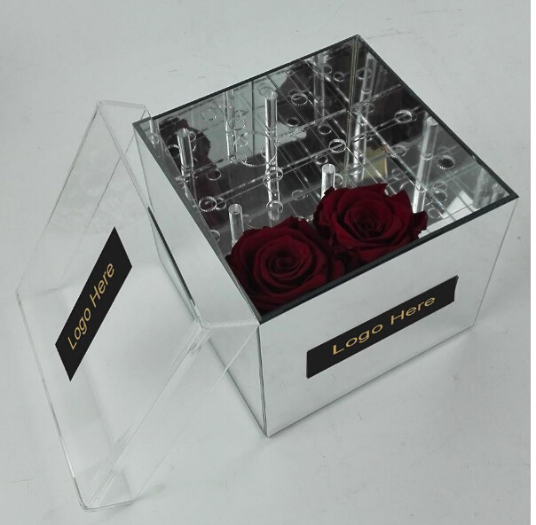 Waterproof Clear Acrylic Flower Storage Box /Rose Packing Box Manufacturer