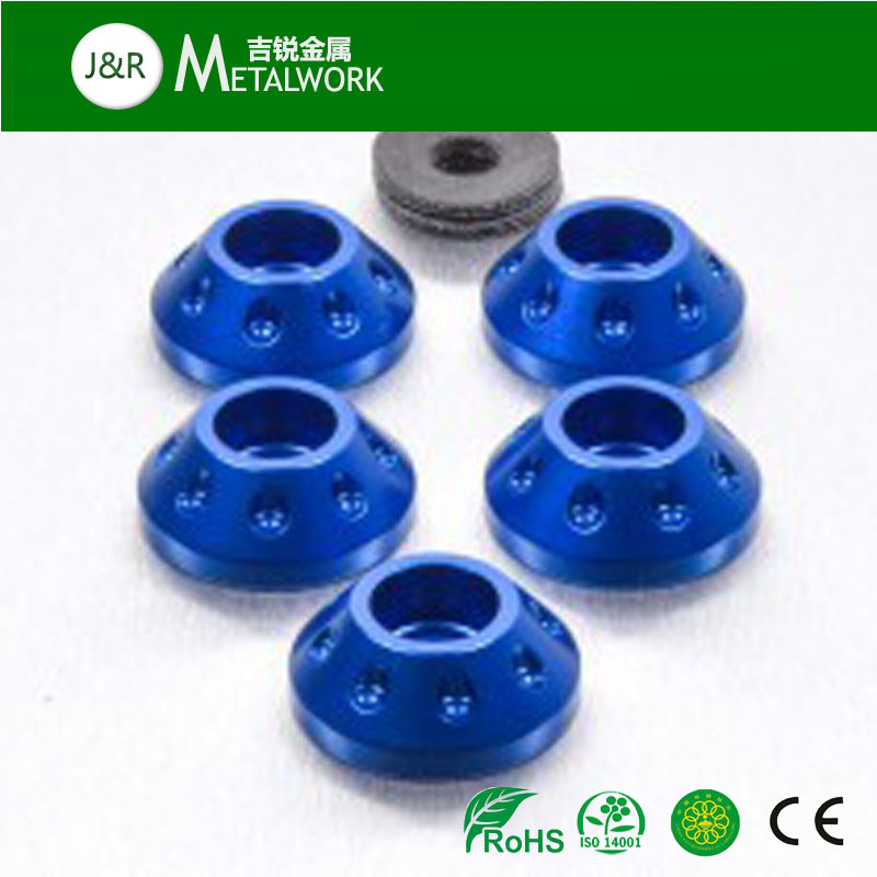 OEM Anodized Plated Aluminum Cup Contersunk Washer