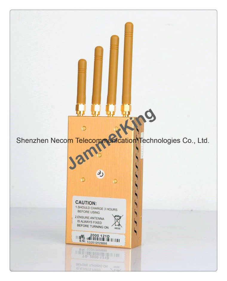 China Handheld 5 Bands Signal Jammer/Blocker; GSM, 3G, GPS, Cell Phone Jammer; Portable Security Alarm Jammer System; WiFi Jammer/Camera Jammer - China Handheld Jammer, GSM Jammer