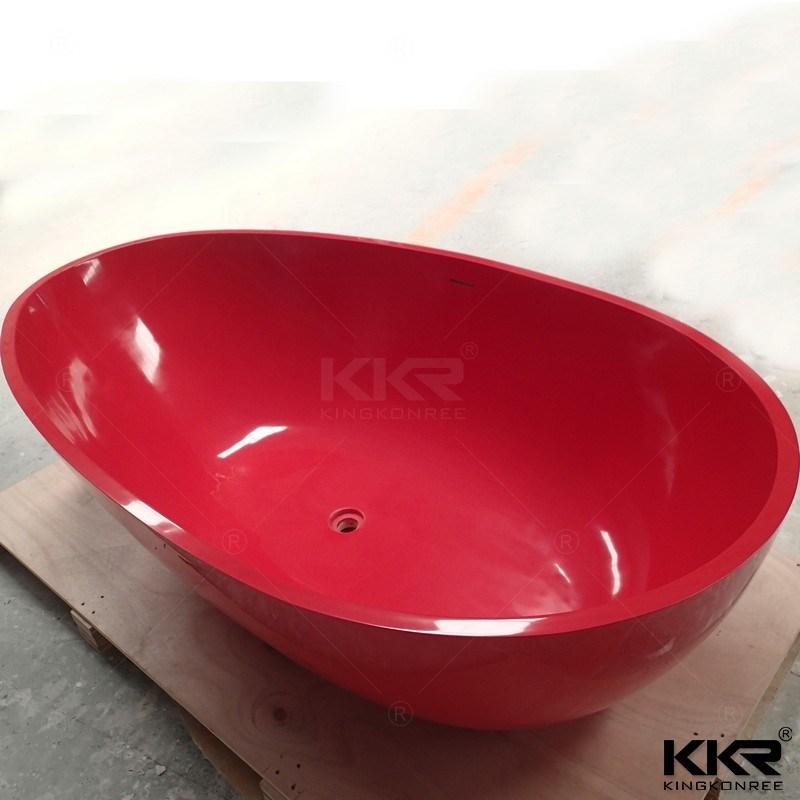 2017 New Design Red Solid Surface Freestanding Bathtub (BT170913)