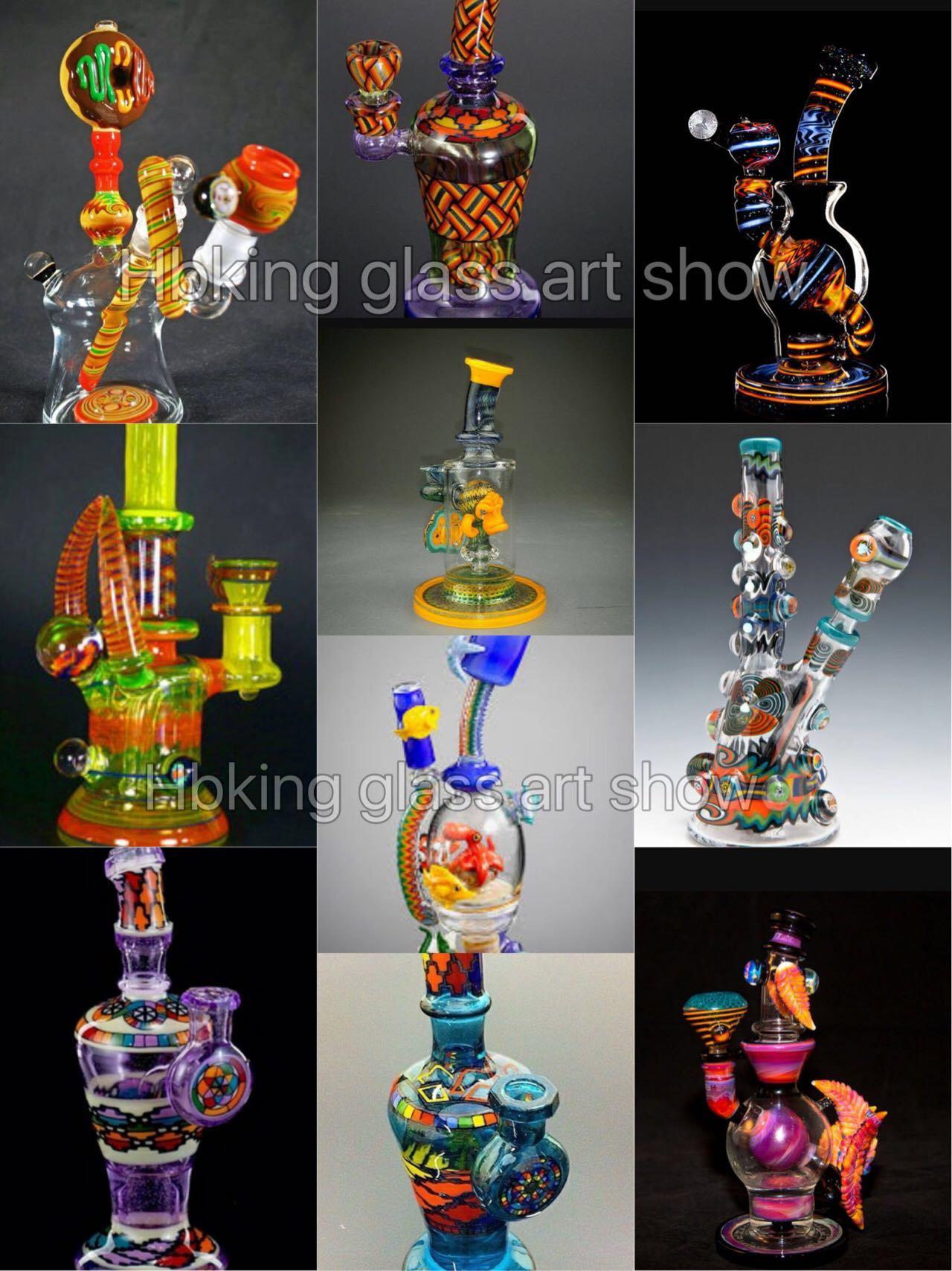 2017 Top Selling Glass Art Made in China Mix Color Glass Smoking Pipe