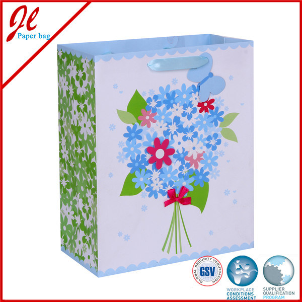 Decorative Handmade Paper Gift Bag Floral Paper Gift Bags