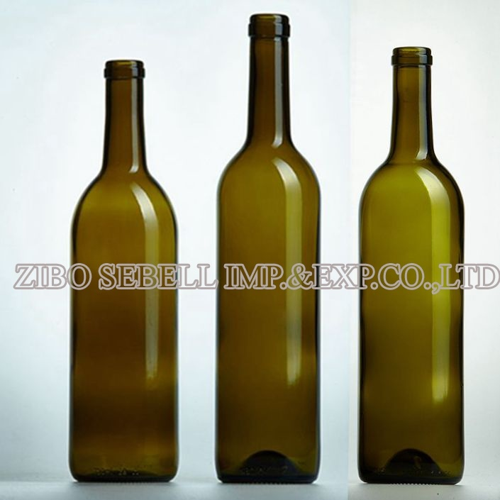 Bordeaux Glass Wine Bottle 200ml, 375ml, 500ml, 750ml (05-corktop bordeaux)