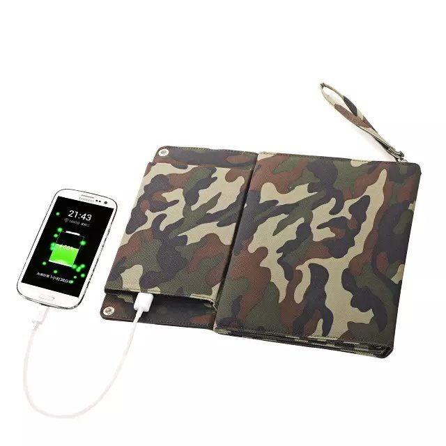 Factory Original Solar Mobile Phone Power Bank Charger 6W 5V/1200mA