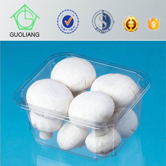 Customizable High Quality Food Display Plastic Mushroom Tray Packaging