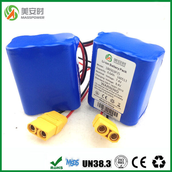 Ce Certificate lithium-Ion Battery 7.4V 6600mAh