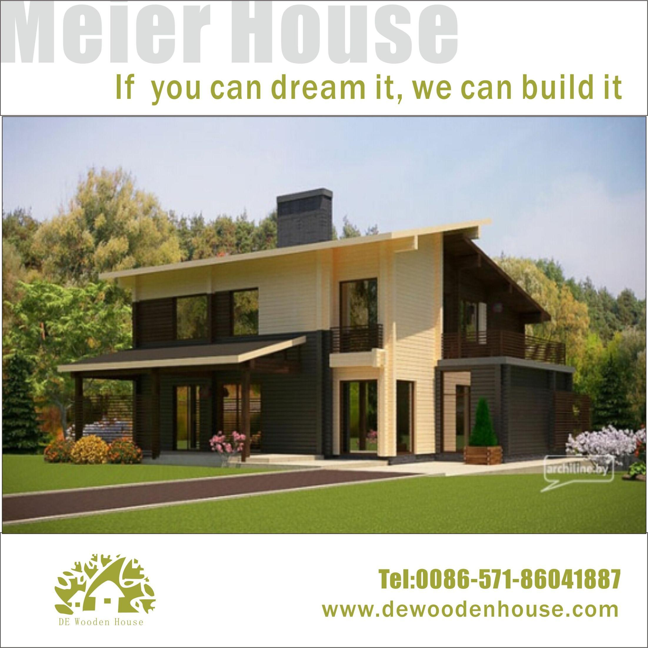 China Prefab Modern Hi Tech Style Wooden House Dy E 110 Photos