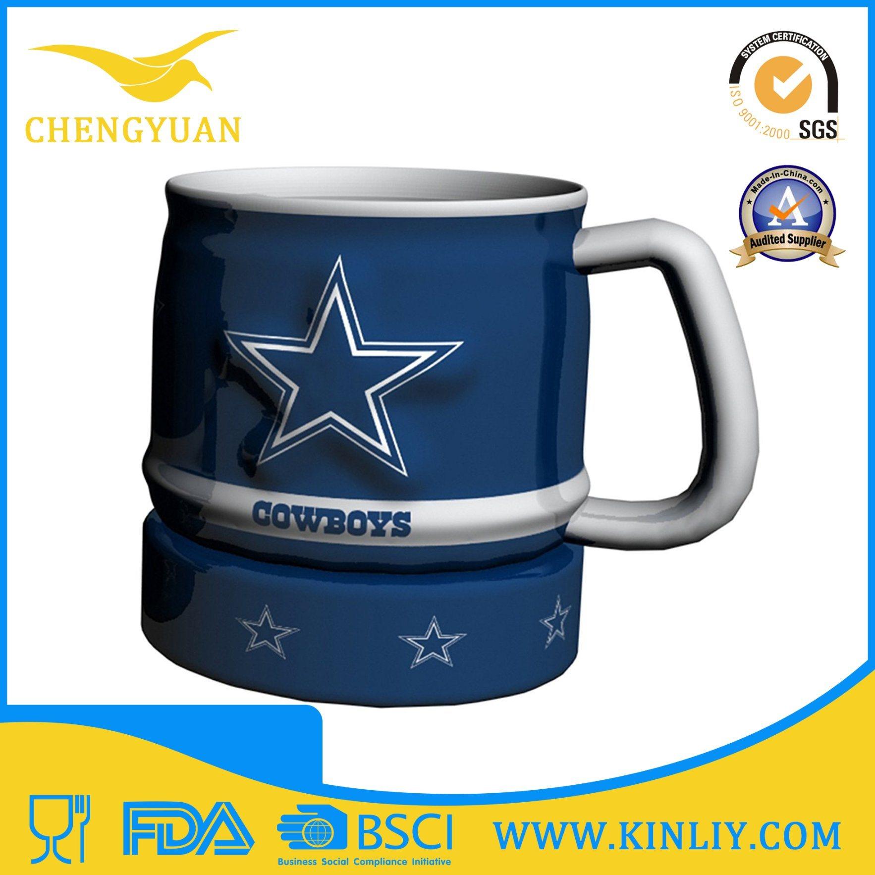 Hot Sale Mighty Ceramic NFL Tea Cup Coffee Mug with Cheap