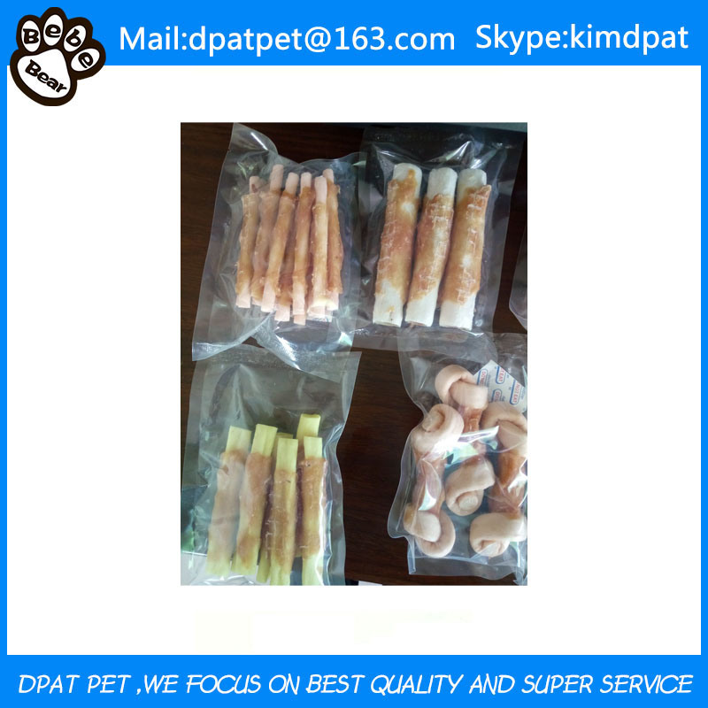 China Manufacturer Private Label Dog Chew Porkhide Twists Dog Treats