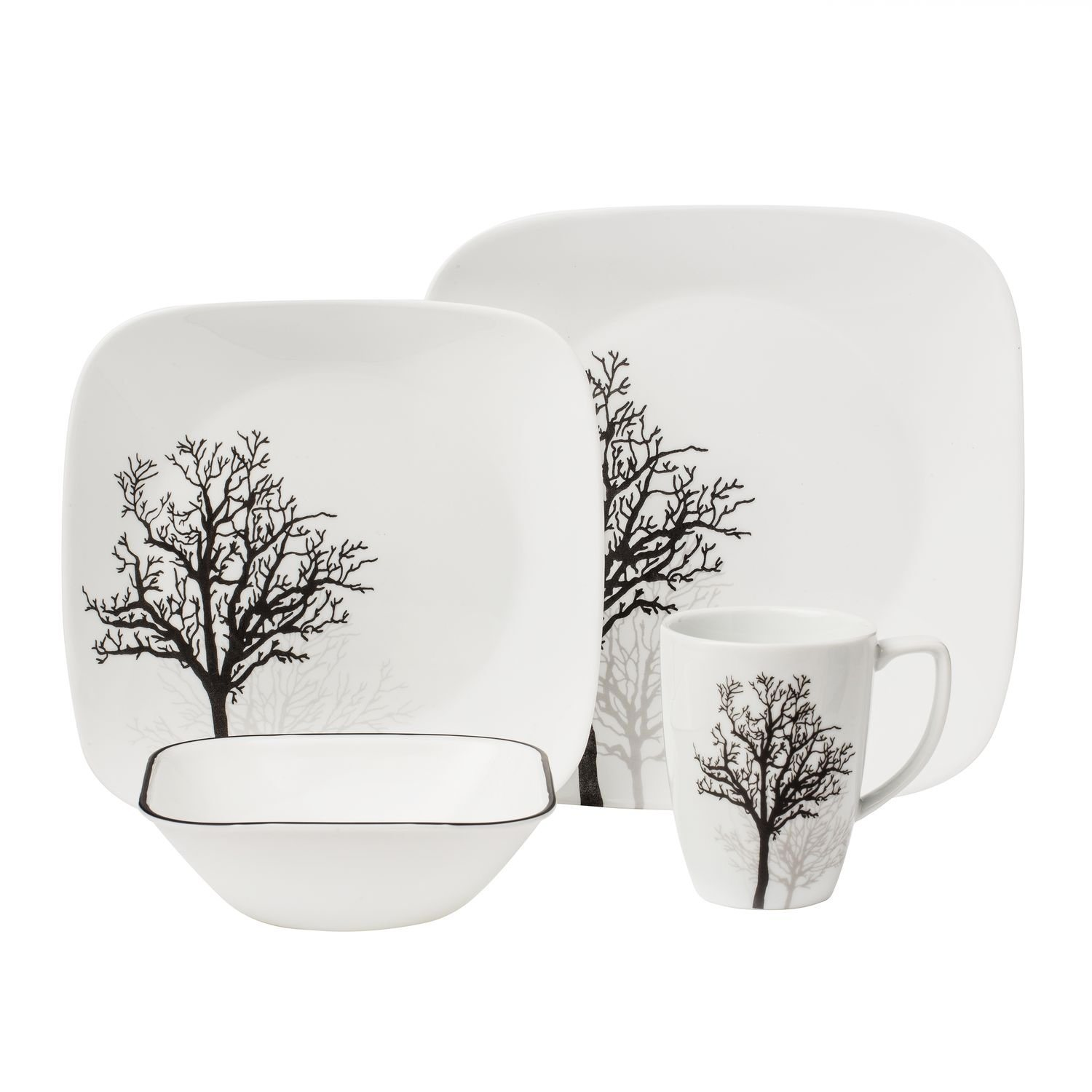 FDA Standard Ceramic Dinnerware Set Bowl Plate Tree Painted