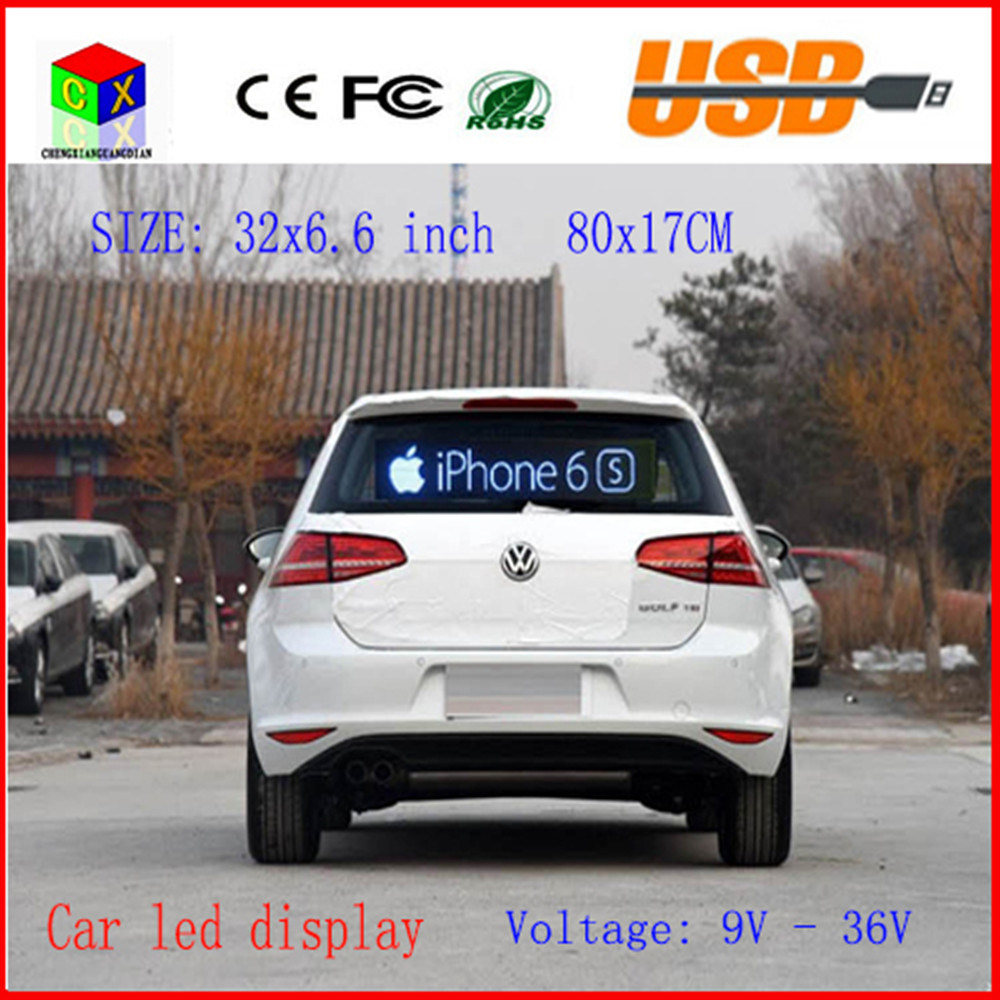 LED Car Display Indoor Programmable Image RGB Full Color LED Sign Support Scrolling Text LED Advertising Screen Display