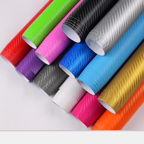 1.52 * 20m High Glossy Car Body Wrapping Vinyl 5D Carbon Fiber