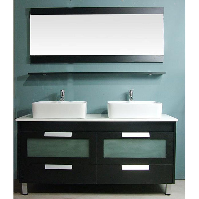 Double Bathroom Basin : China Double Basin Bathroom Vanities (21743) - China Bathroom Cabinet ...