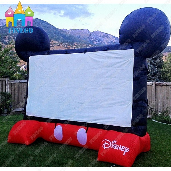 Advertising Mickey Widescreen Drive-in Inflatable Projection TV Movie Screen