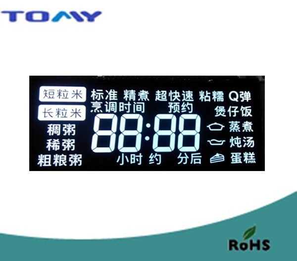 Va LCD Display with White Backlight