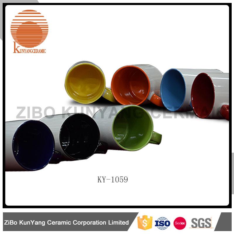 Color Inside Color Rim and Color Handle Mug