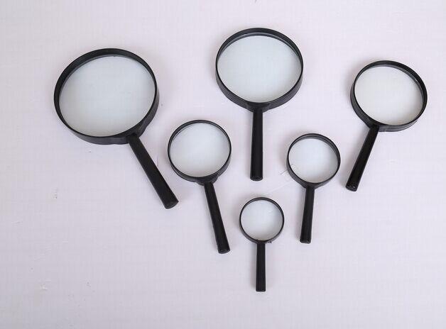 75mm Plastic Handle Glass Magnifier